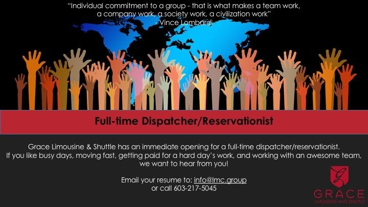 Now Hiring Dispatcher Grace Limo
